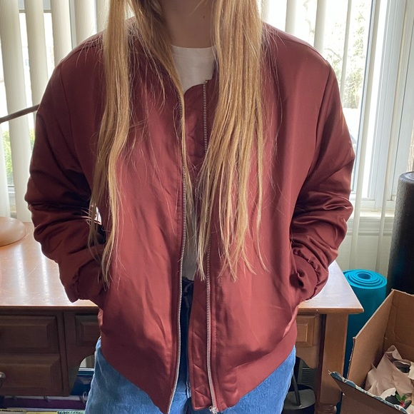 Forever 21 Jackets & Blazers - Rust colored bomber jacket